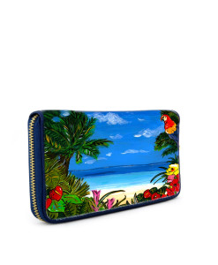 Hand-painted wallet - Tropicana