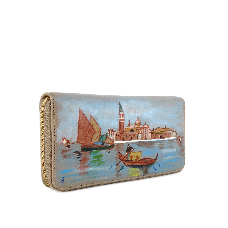 Portafoglio dipinto a mano – Venice
