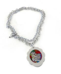 Collana dipinta a mano – Il Sogno di Picasso