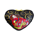 Portamonete dipinto a mano - L'abbraccio di Klimt