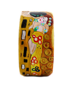 Handpainted bracelet - The Kiss by Klimt