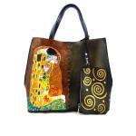 Borsa dipinta a mano – Il bacio di Klimt