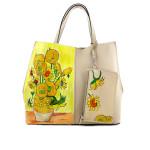 Borsa dipinta a mano – I girasoli di Van Gogh