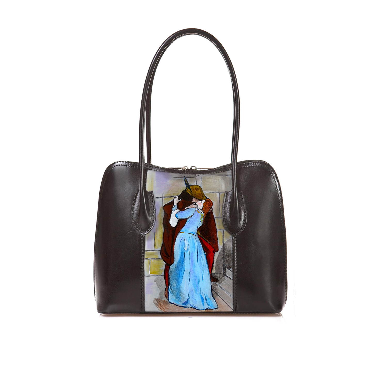 Hand-painted bag - The Kiss by Hayez