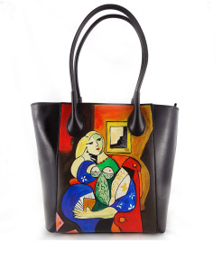 Handpainted bag - Woman reading by Picasso