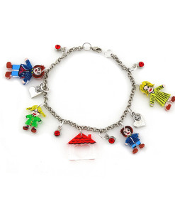 Hand-painted bracelet - My happy family