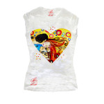 T-shirt dipinta a mano - Omaggio al Bacio Appassionato di Sophie Vogel