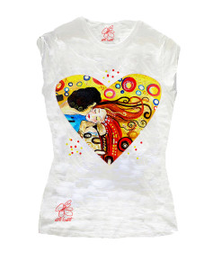 Hand-painted T-shirts - Tribute to Passionate kiss by Sophie Vogel