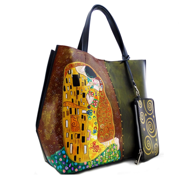 Handpainted bag - The Kiss by Klimt