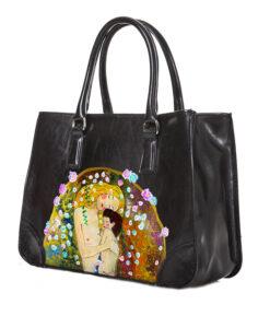 Borsa dipinta a mano - Madre e figlio di Klimt