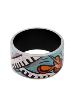 Hand-painted bracelet - Music is my world