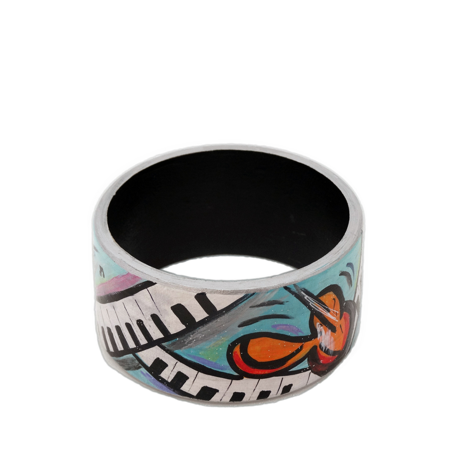 Bracciale dipinto a mano – Music is my world