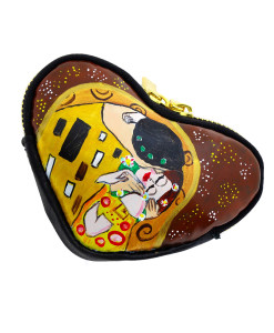 Hand-painted coin purse - The Kiss by Klimt