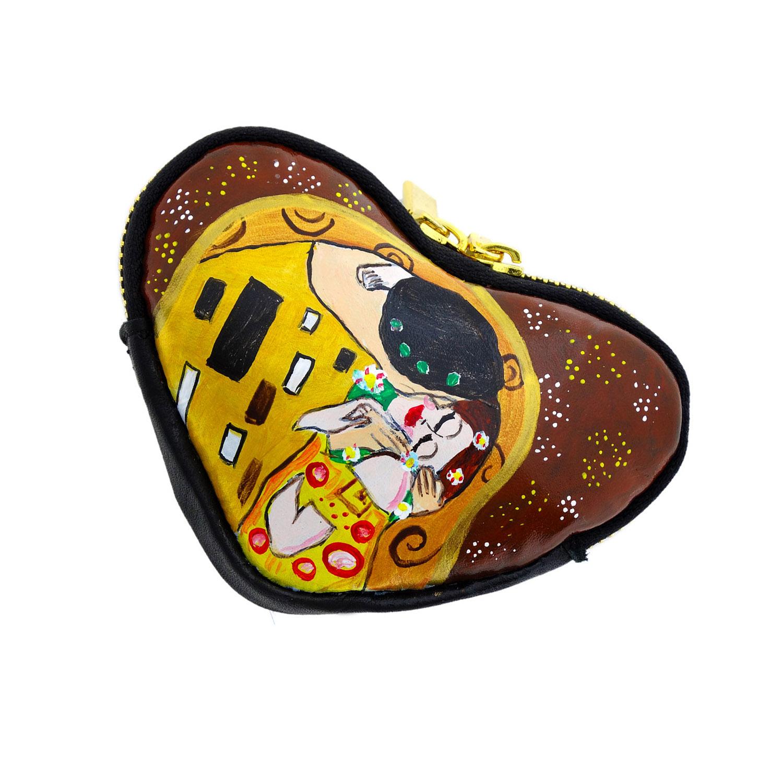 Portamonete dipinto a mano - Il Bacio di Klimt