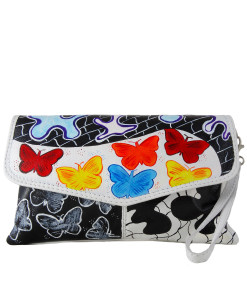 Hand-painted bag - Butterfly