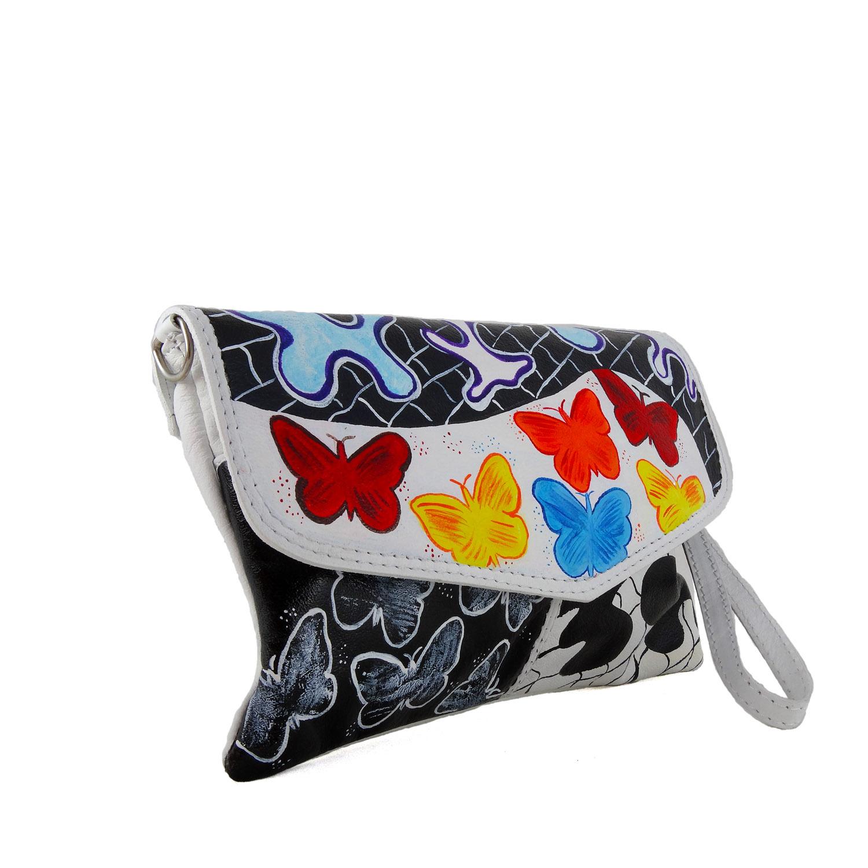 Borsa dipinta a mano - Butterfly