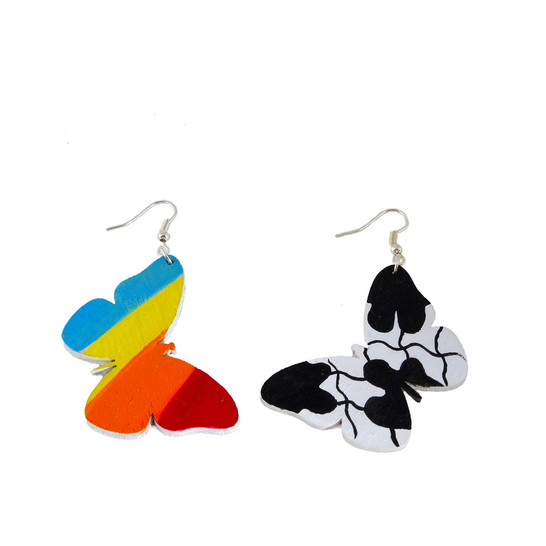 Orecchini dipinti a mano - Butterfly