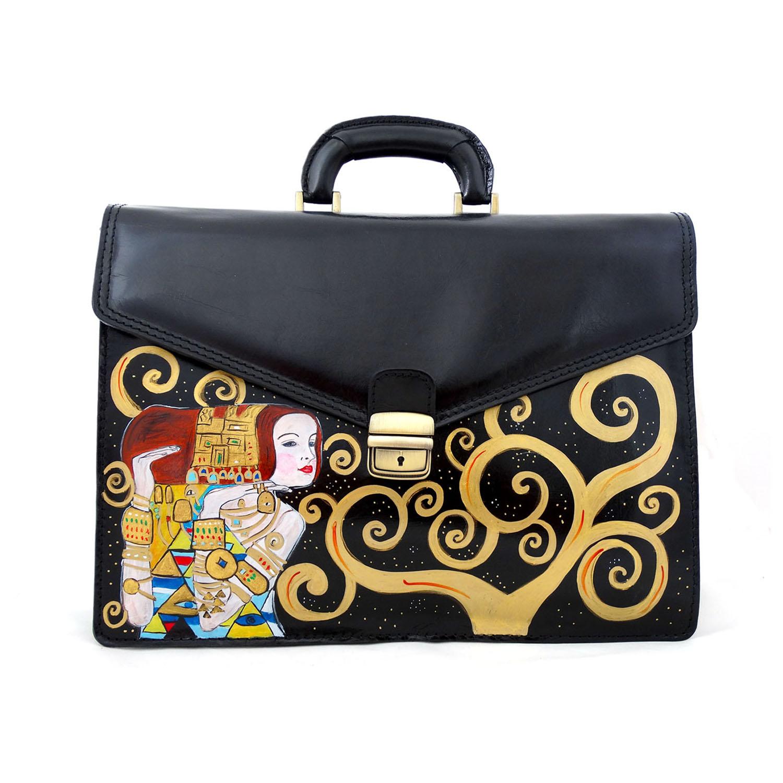 Borsa dipinta a mano – L'attesa (Expectation) di Klimt