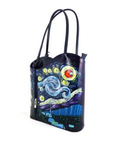 Handpainted bag - The Starry Night by Van Gogh