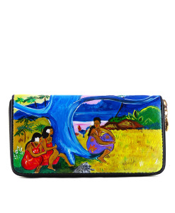 Portafoglio dipinto a mano – Cat Toru Potii di Gauguin