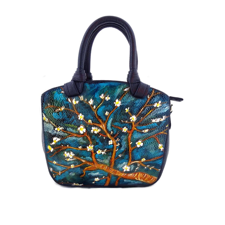 Borsa dipinta a mano - Il mandorlo di Van Gogh