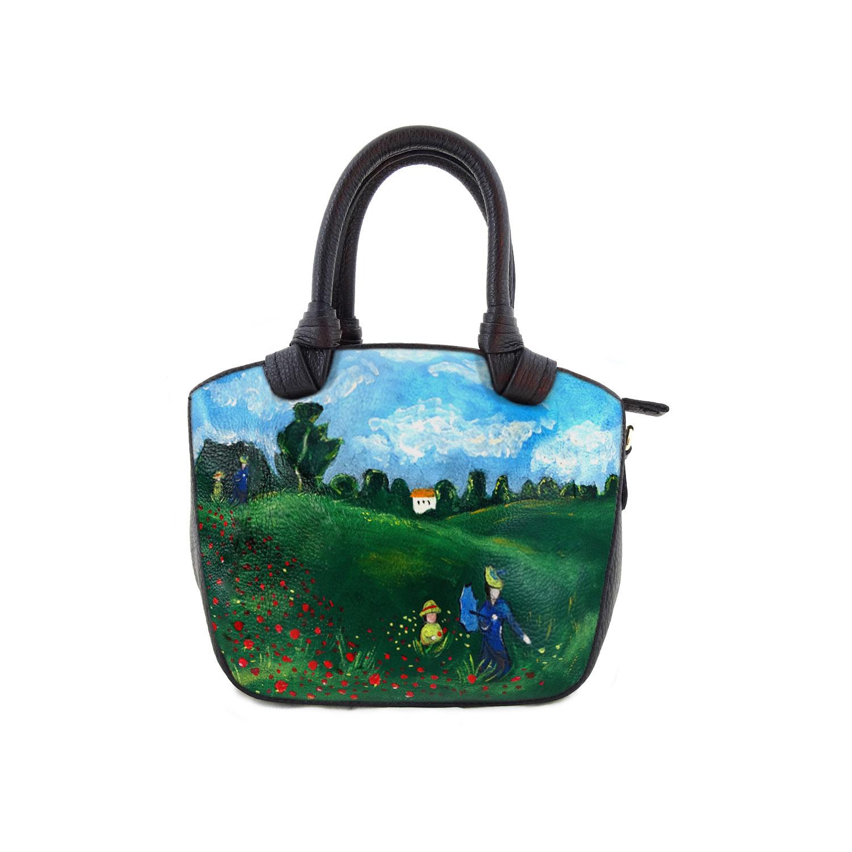 Borsa dipinta a mano - I papaveri di Monet