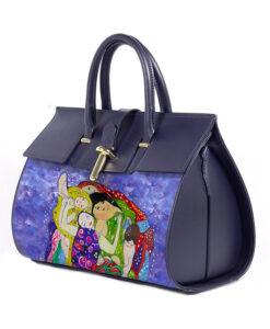 Borsa dipinta a mano - La vergine di Klimt
