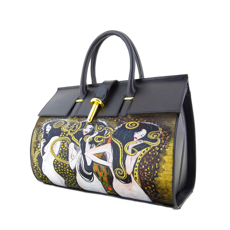 Borsa dipinta a mano - Le forze ostili di Klimt