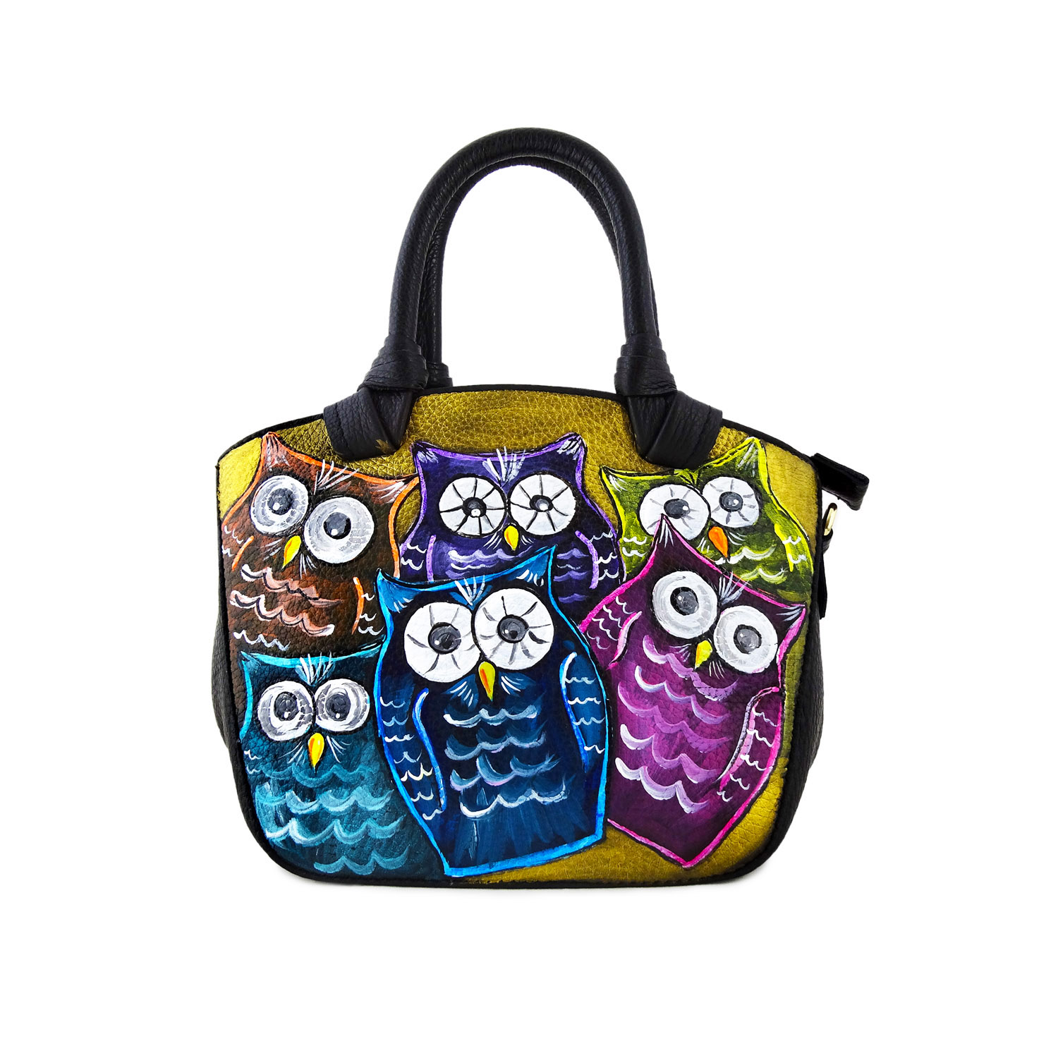 Hand-painted bag - Owl