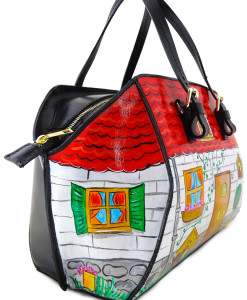 Hand-painted bag - Home sweet home