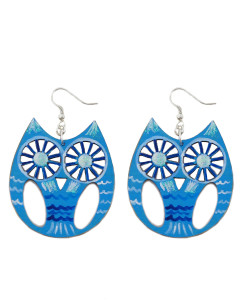 Hand-painted earrings - Owl