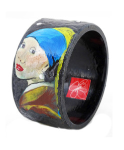 Hand-painted bracelet - Girl with a Pearl Earring by Vermeer