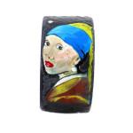 Bracciale dipinto a mano – Ragazza con l'orecchino di perla di Vermeer