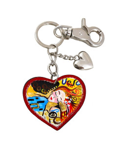 Hand painted keychain - Tribute to lover kiss by Sophie Vogel