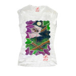 T-shirt dipinta a mano - La civetta e la luna