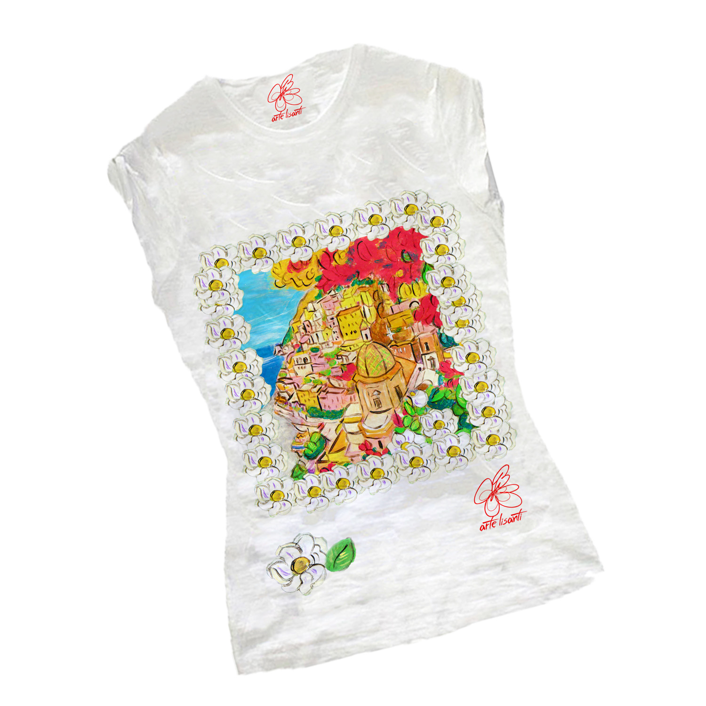 T-shirt dipinta a mano – Positano