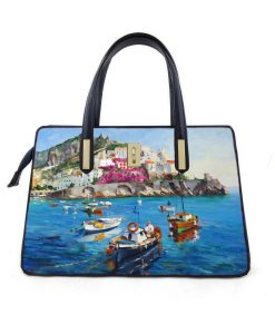 Borsa dipinta a mano – Amalfi d' amare