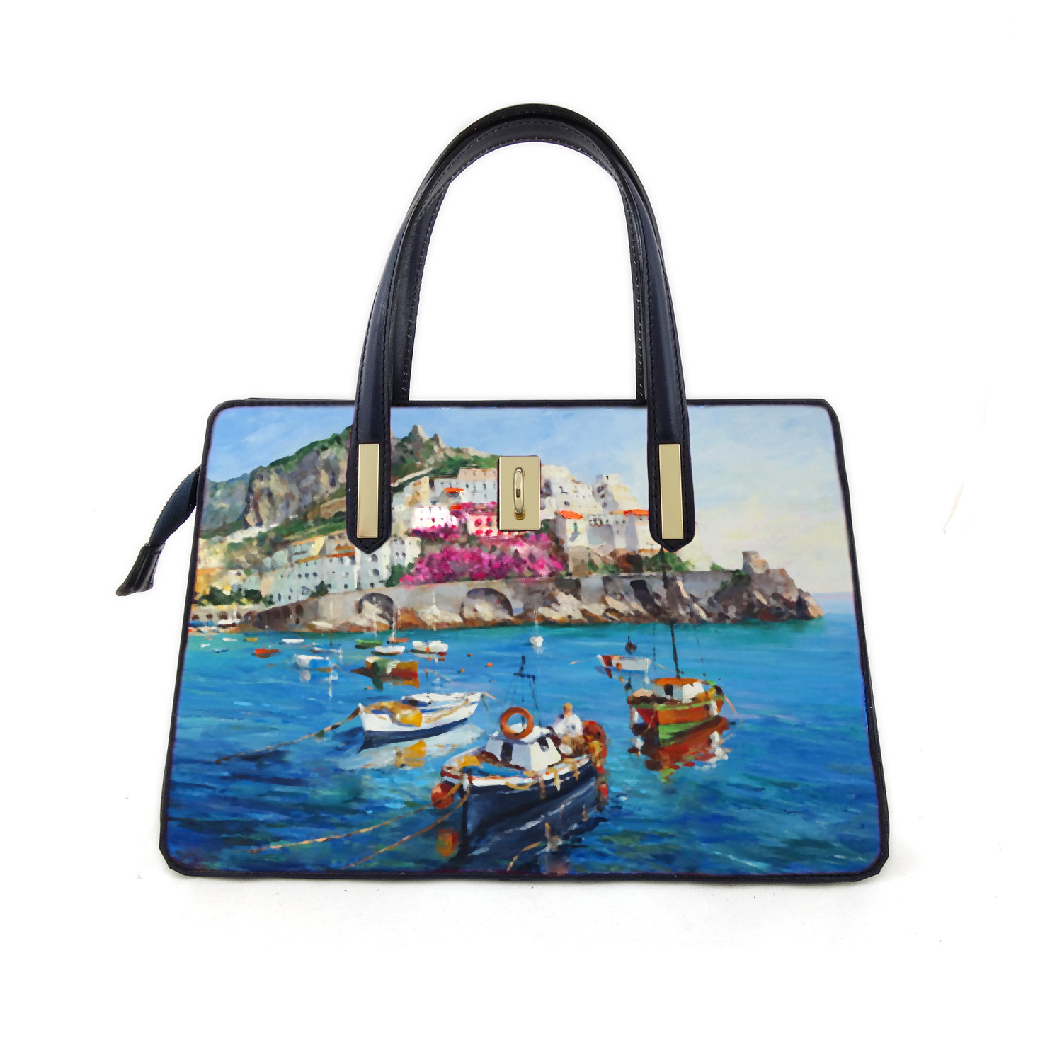 Handpainted bag - Amalfi to love