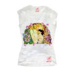 T-shirt dipinta a mano - Madre e figlio di Klimt