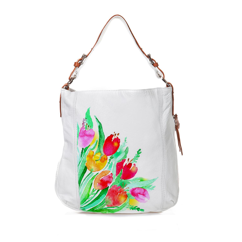 Borsa dipinta a mano - Tulipani