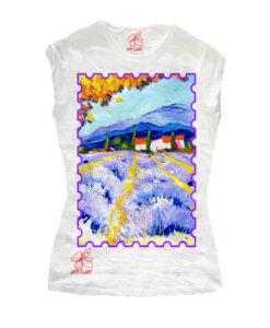 T-shirt dipinta a mano - Provence