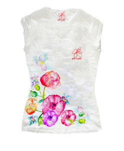 Hand-painted T-shirts - Bouquet