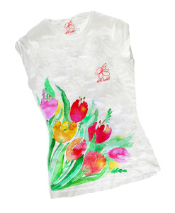 Hand-painted T-shirts - Tulips