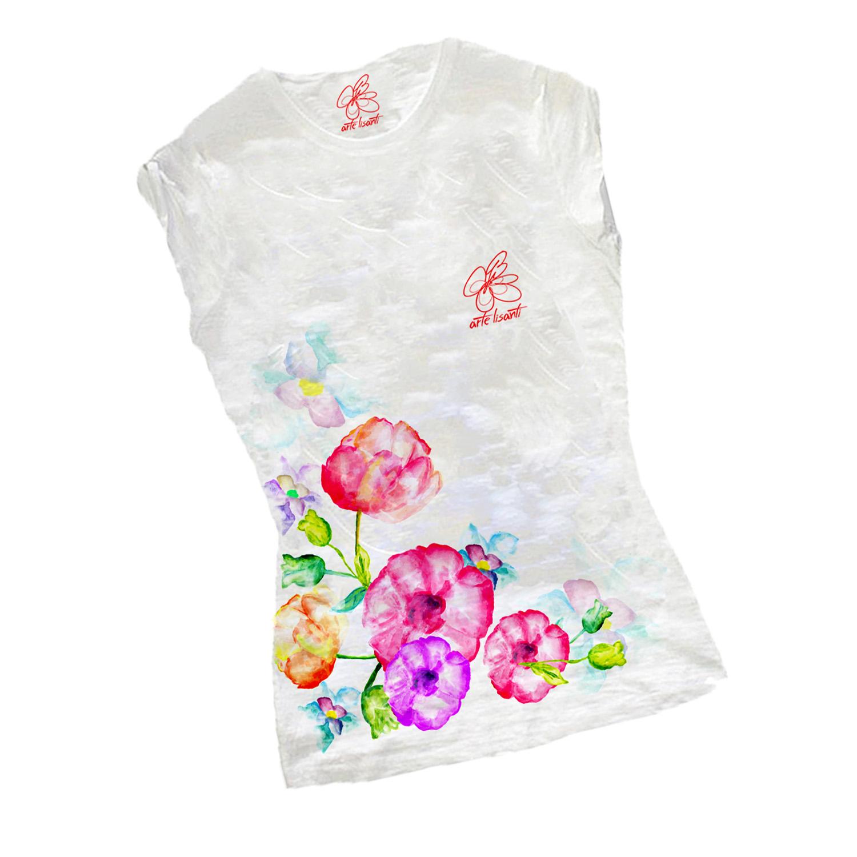 T-shirt dipinta a mano - Bouque