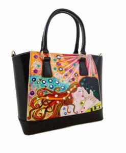 Borsa dipinta a mano – Omaggio al bacio di Klimt