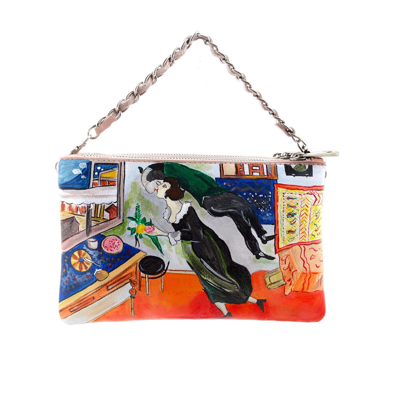 Borsa dipinta a mano - Il compleanno di Chagall