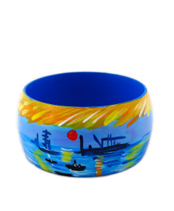 Hand-painted bangle - Sunrise by Monet