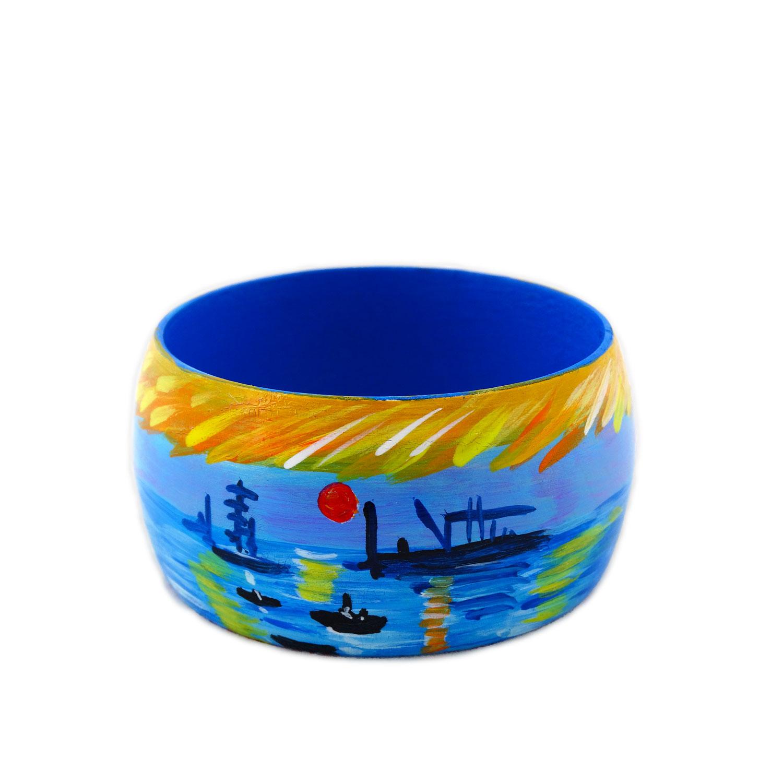 Bracciale dipinto a mano - Levar del sole di Monet