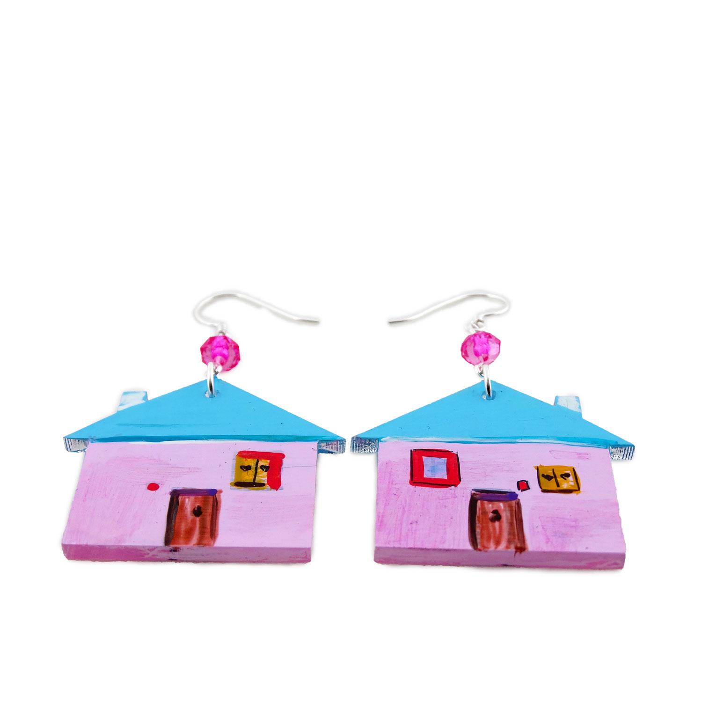 Orecchini dipinti a mano - Home sweet home bon ton
