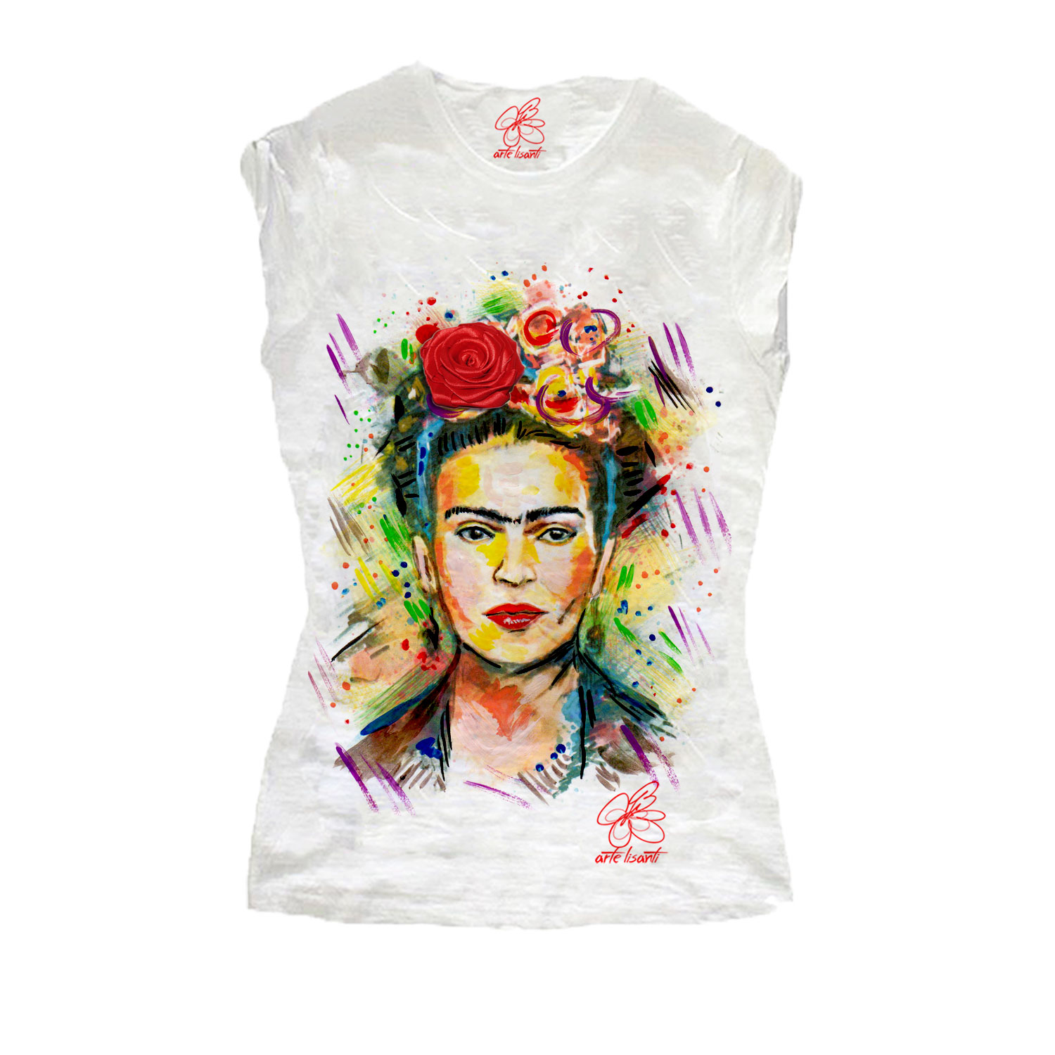 Hand-painted T-shirts - I love Frida Kahlo